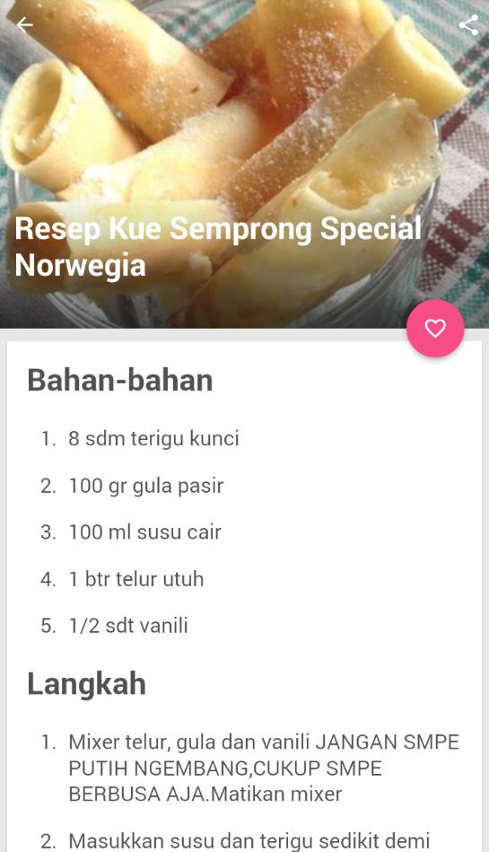 Resep Kue Semprong Terbaru poster