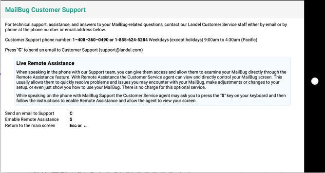 MailBug screenshot 2