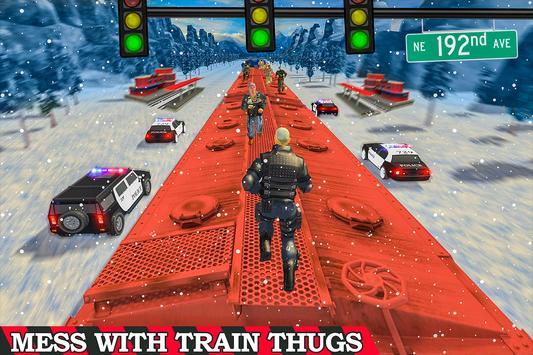 Super Police Hero Gangster Chase Train screenshot 6