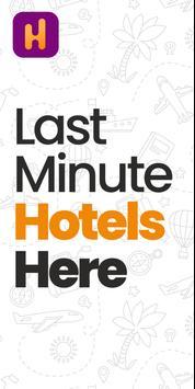 Last-Minute-Hotelbuchungs-App Plakat