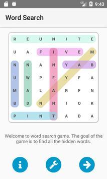 لعبة البحث عن كلمة poster