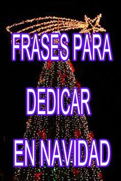 Frases Para Dedicar en Navidad poster