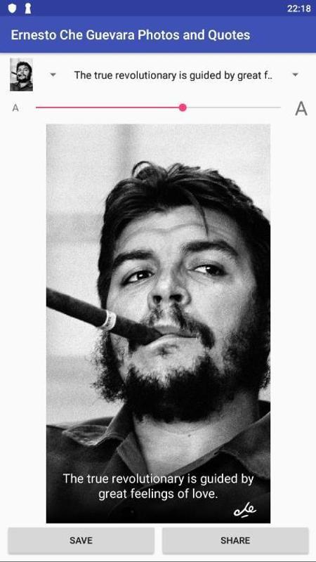 Ernesto Che Guevara Photos & Quotes الملصق ...