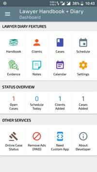 Lawyer Diary - FREE Advocate Diary & Handbook screenshot 1