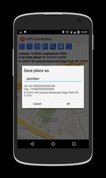 GPS Coordinates تصوير الشاشة 3