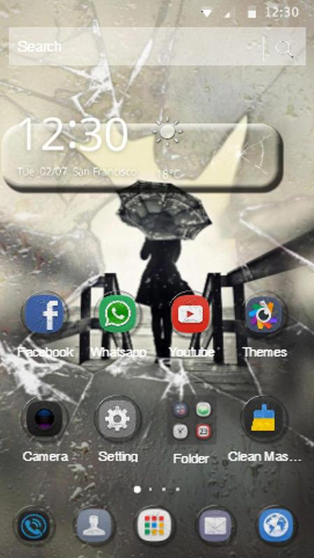 screen crack theme download