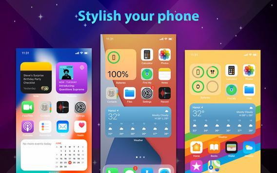 Phone 12 Launcher, OS 14 Launcher, Control Center captura de pantalla 17