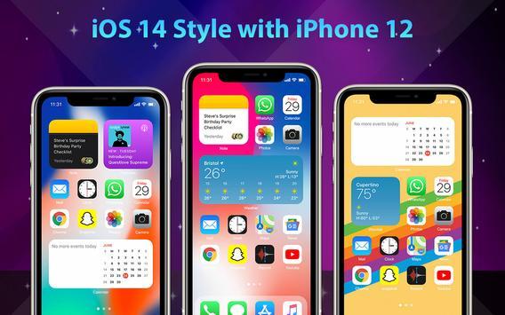 Phone 12 Launcher, OS 14 iLauncher, Control Center captura de pantalla 11