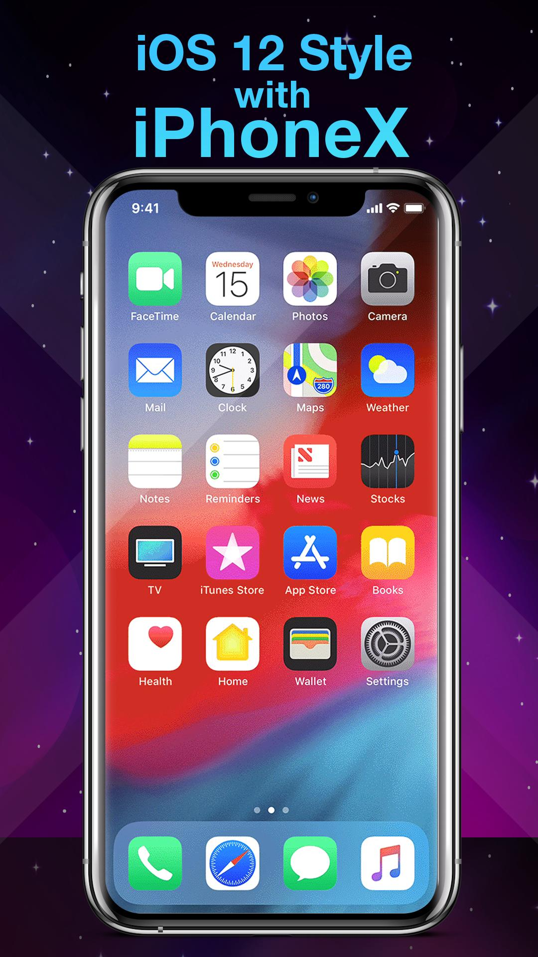 Phone X Launcher, OS 12 iLauncher & Control Center for