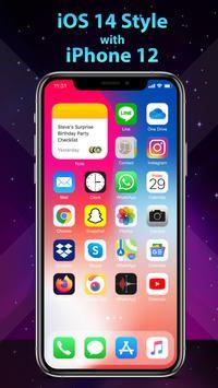 Phone 12 Launcher, OS 14 iLauncher, Control Center captura de pantalla 4