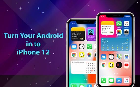 Phone 12 Launcher, OS 14 iLauncher, Control Center captura de pantalla 8