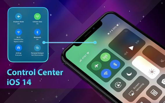 Phone 12 Launcher, OS 14 iLauncher, Control Center captura de pantalla 9