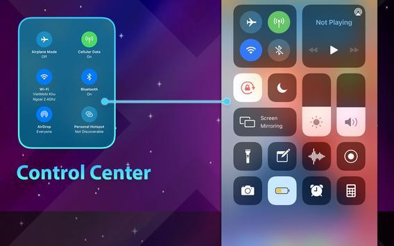 Phone 12 Launcher, OS 14 Launcher, Control Center captura de pantalla 9