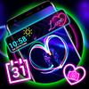 Neon Heart Launcher Theme icono