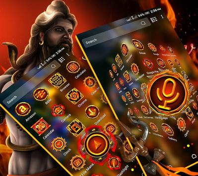 Lord Shiva Launcher Theme poster