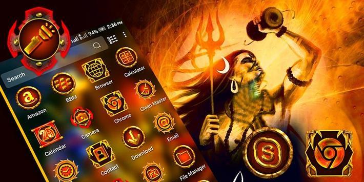 Lord Shiva Launcher Theme screenshot 1