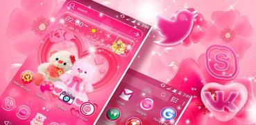 Love Bear Launcher Theme