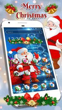 Cute Santa Christmas Theme poster