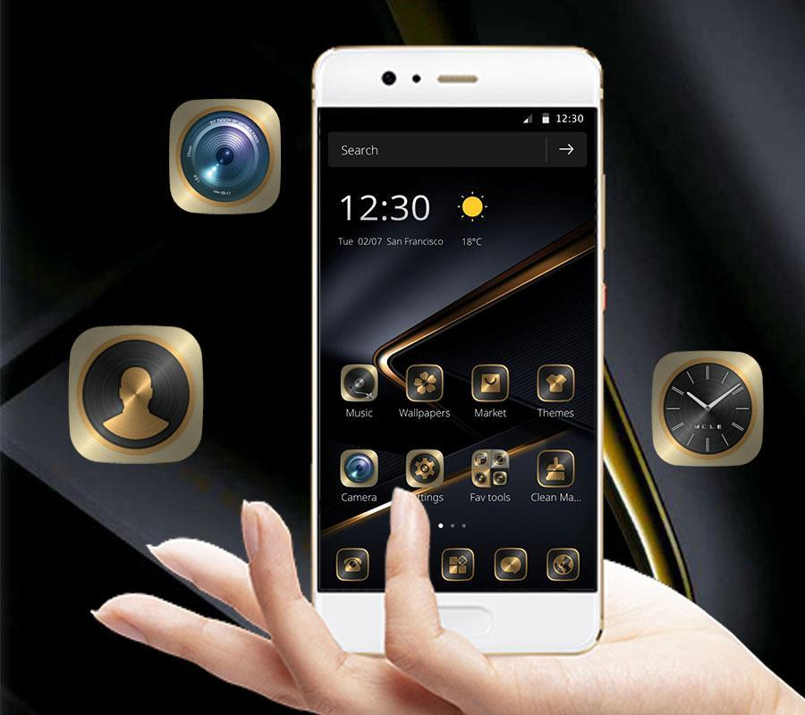 Golden Black Theme For P10 For Android Apk Download
