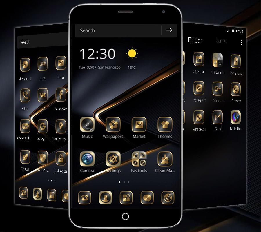 Golden Black Theme for P10 for Android - APK Download