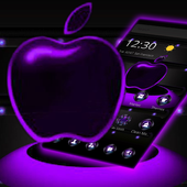 Violet Neon Apple Tech Theme icon