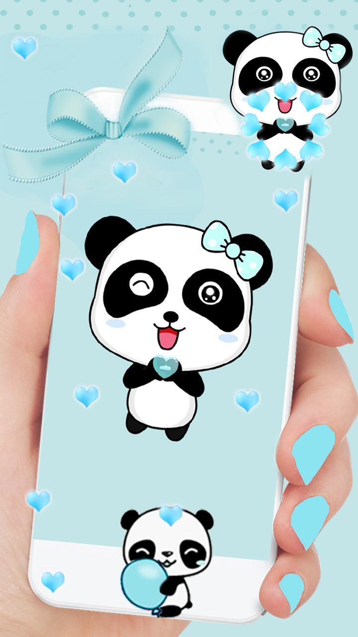 Biru Cinta Panda Wallpaper Hidup For Android Apk Download