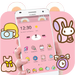 Pink Cute Cartoon Bear Theme