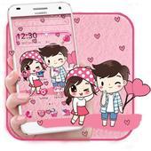 Cute Cartoon Love Launcher Theme icon