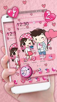 Cute Cartoon Love Launcher Theme screenshot 1