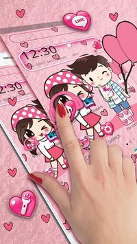 Cute Cartoon Love Launcher Theme screenshot 2