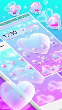 Love Heart Bubble Theme screenshot 1