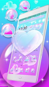 Love Heart Bubble Theme screenshot 2