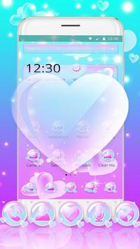 Love Heart Bubble Theme screenshot 3