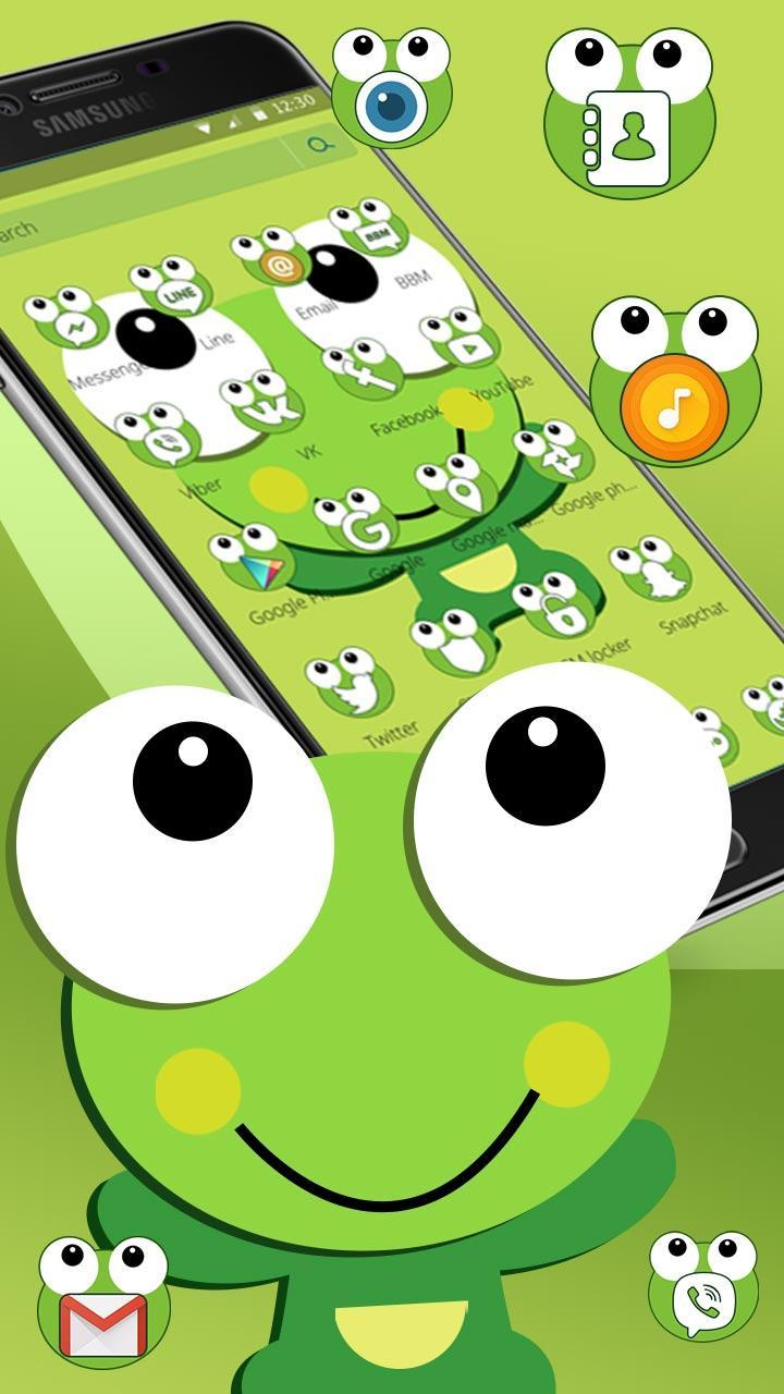 Olhos Grandes De Sapo Verde Dos Desenhos Animados Para Android