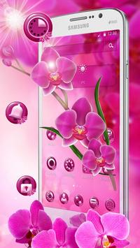 Pink Orchid Spring Flowers Theme screenshot 3