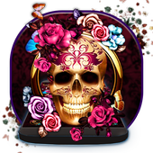 Colorful Floral Skull Theme icon