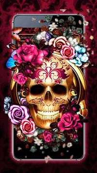 Colorful Floral Skull Theme poster