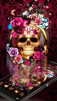 Colorful Floral Skull Theme screenshot 1