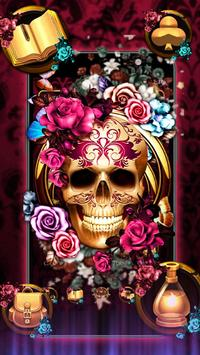 Colorful Floral Skull Theme screenshot 2