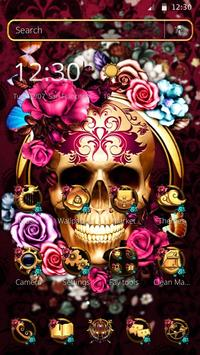 Colorful Floral Skull Theme screenshot 3