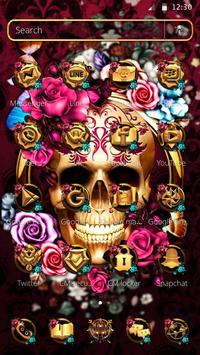Colorful Floral Skull Theme screenshot 4