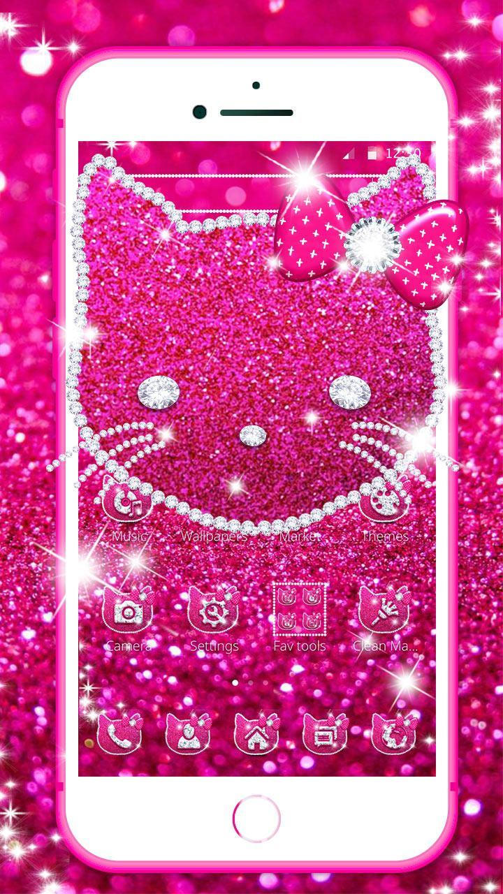 Pink Diamond Kitty Glitter Theme For Android Apk Download