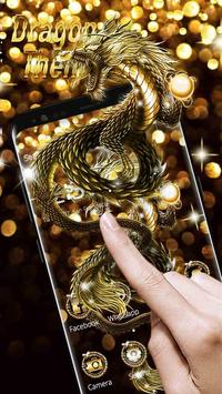 Sparkling Golden Dragon Theme screenshot 1