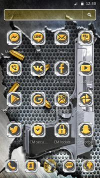 Cool Gun Bullet Launcher Theme screenshot 4