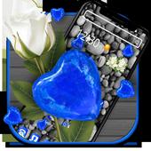 Blue Stone Heart Diamond Theme💎💕 icon