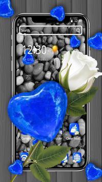 Blue Stone Heart Diamond Theme💎💕 screenshot 3