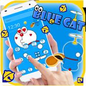 Kawaii Blue Cute Cat Cartoon Wallpaper Theme For Android Apk Download