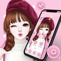 Pink Sweet Girl Love Theme