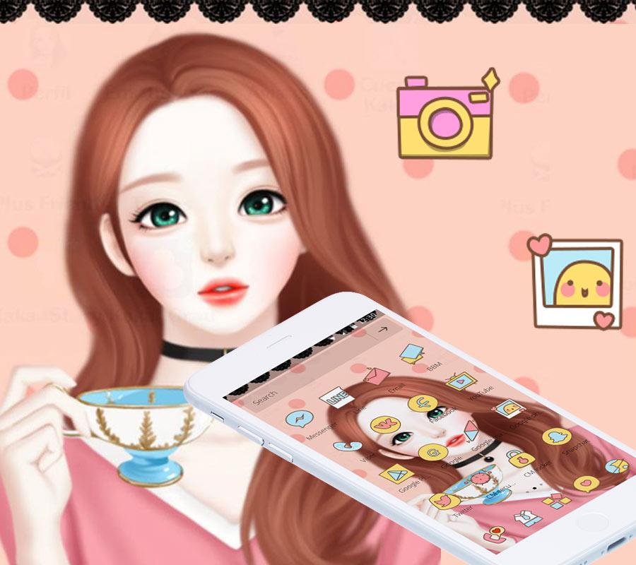 Cartoon Beautiful Girl Lovely Theme For Android Apk Download