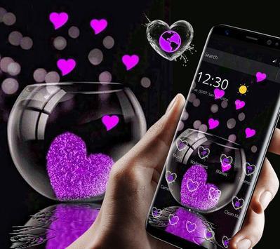 Pink Love Heart Theme screenshot 1